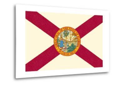 Florida State Flag-Lantern Press-Metal Print