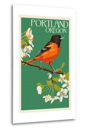 Portland, Oregon - Oriole-Lantern Press-Metal Print