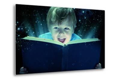Child Opened a Magic Book-conrado-Metal Print