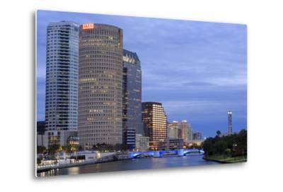 Hillsborough River and Skyline, Tampa, Florida, United States of America, North America-Richard Cummins-Metal Print