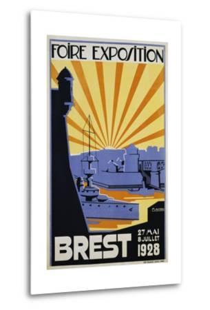 Foire Exposition Brest Poster-C. Lautrou-Metal Print
