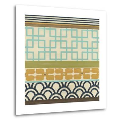 Non-Embellish Geometric Frieze III-Erica J^ Vess-Metal Print