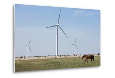 Wind Farm, Vega, Texas-Paul Souders-Metal Print