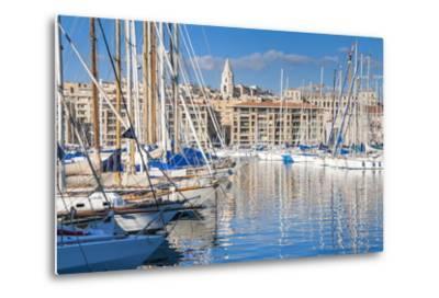 View across the Vieux Port-Nico Tondini-Metal Print