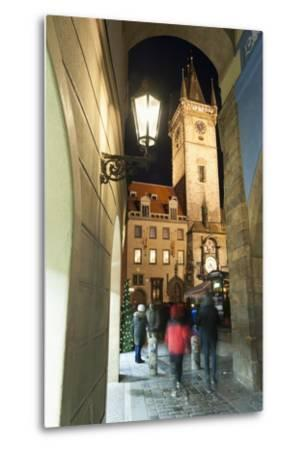 Gothic Old Town Hall at Twilight-Richard Nebesky-Metal Print