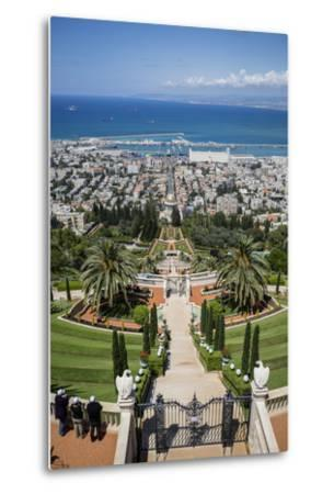 View over the Bahai Gardens, Haifa, Israel, Middle East-Yadid Levy-Metal Print