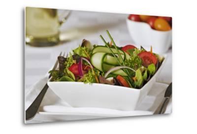 Green Salad in Bowl-Martin Harvey-Metal Print