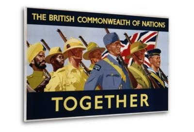 The British Commonwealth of Nations - Together Poster--Metal Print