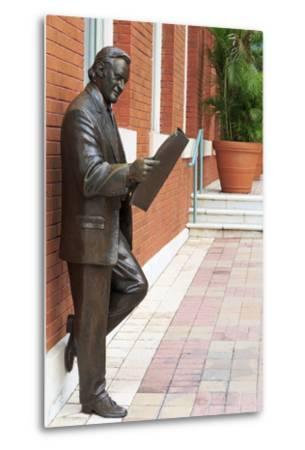 R. Manteiga Statue in Centro Ybor, Tampa, Florida, United States of America, North America-Richard Cummins-Metal Print
