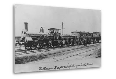 Pullman Express Locomotive--Metal Print
