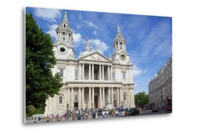 View of St. Paul's Cathedral, London, England, United Kingdom, Europe-Frank Fell-Metal Print