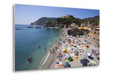 The Free Beach in the Old Town at Monterosso Al Mare-Mark Sunderland-Metal Print