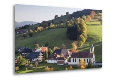 Church in Autumn, Wieden, Wiedener Eck, Black Forest, Baden Wurttemberg, Germany, Europe-Markus Lange-Metal Print