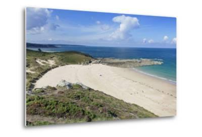 Sandy Beach at Cap Frehel, Cotes D'Armor, Brittany, France, Europe-Markus Lange-Metal Print