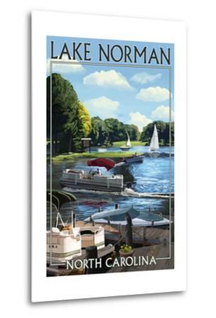 Lake Norman, North Carolina - Boating Scene-Lantern Press-Metal Print