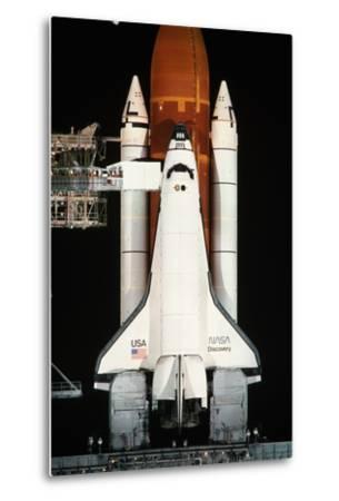 Space Shuttle Illuminated at Night-Roger Ressmeyer-Metal Print