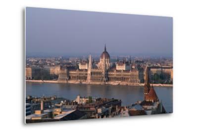 Danube in Budapest-Vittoriano Rastelli-Metal Print
