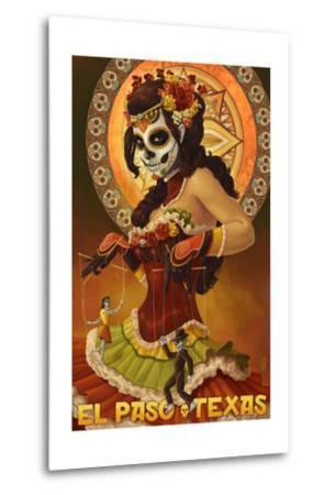 El Paso, Texas - Day of the Dead Marionettes-Lantern Press-Metal Print