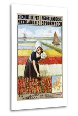 Chemins De Fer Neerlandais Travel Poster--Metal Print