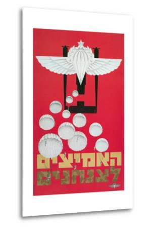 Russian Poster with Parachutes--Metal Print