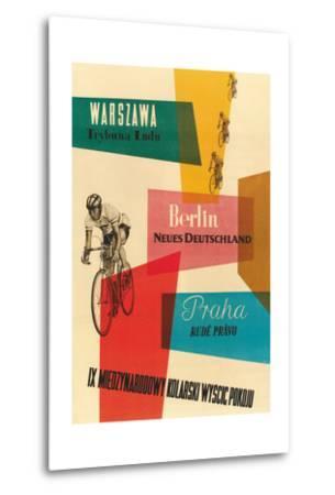 Bicycle Race, Warsaw, Berlin, Prague--Metal Print