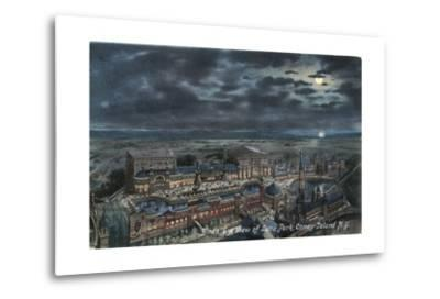 Bird's Eye View of Luna Park--Metal Print