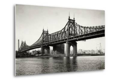 General View of the Queensboro Bridge--Metal Print