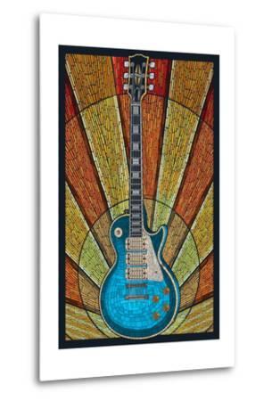 Guitar - Mosaic-Lantern Press-Metal Print
