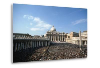 St Peter's Square, October 16th 1978-Vittoriano Rastelli-Metal Print