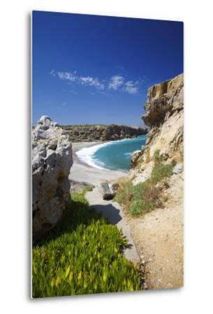 Beach in Rethymno, Crete, Greek Islands, Greece, Europe-Sakis Papadopoulos-Metal Print