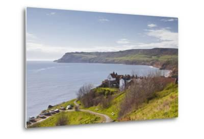 Robin Hood's Bay on the North York Moors Coastline, Yorkshire, England, United Kingdom, Europe-Julian Elliott-Metal Print