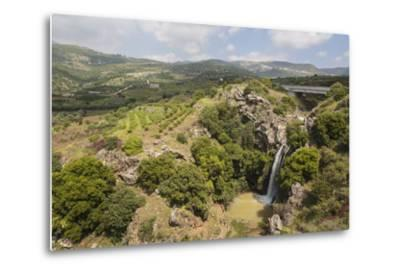Sa'Ar Waterfall at the Hermon Nature Reserve, Golan Heights, Israel, Middle East-Yadid Levy-Metal Print