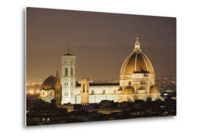 The Duomo and Campanile, UNESCO World Heritage Site, Florence, Tuscany, Italy, Europe-Markus Lange-Metal Print