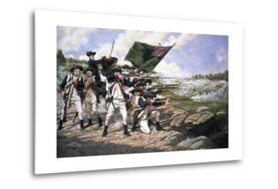 Battle of Long Island--Metal Print