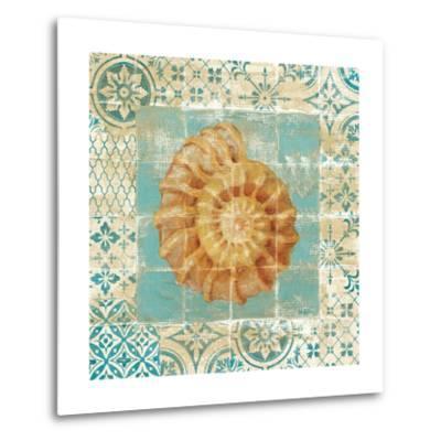 Shell Tiles I Blue-Danhui Nai-Metal Print