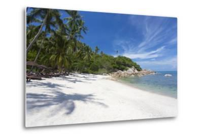 Private Secluded Beach Fringed by Palm Trees at the Silavadee Pool Spa Resort Near Lamai-Lee Frost-Metal Print