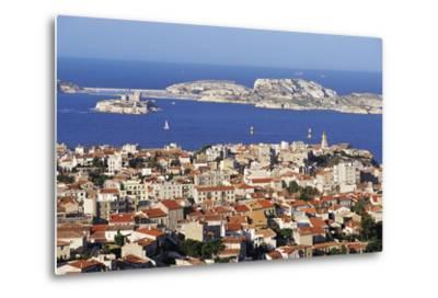 Views of Chateau D'If and Frioul Island, Marseille, Provence, France-John Miller-Metal Print