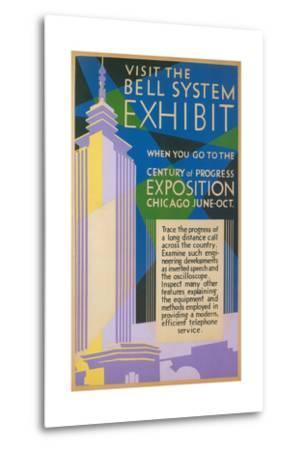 Visit the Bell System Exhibit Poster, Chicago World's Fair, 1935--Metal Print