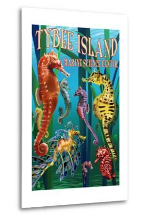 Tybee Island Marine Center - Tybee Island,Georgia - Sea Horses-Lantern Press-Metal Print
