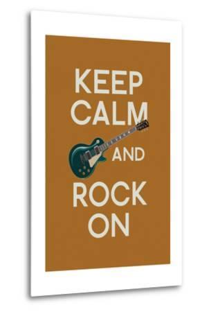 Keep Calm and Rock On-Lantern Press-Metal Print