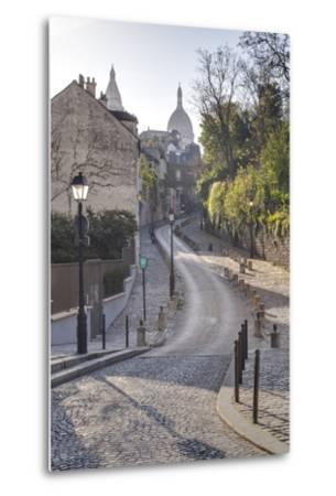 The Montmartre Area with the Sacre Coeur Basilica in the Background, Paris, France, Europe-Julian Elliott-Metal Print