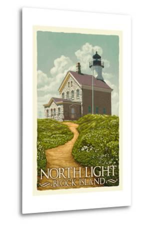 Block Island, Rhode Island - North Light-Lantern Press-Metal Print