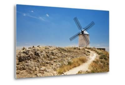 Antique La Mancha Windmills in Consuegra, Spain-Julianne Eggers-Metal Print