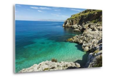 Lovely Limestone Cove at Zingaro Nature Reserve Near Scopello-Rob Francis-Metal Print