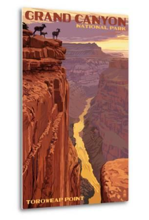 Grand Canyon National Park - Toroweap Point-Lantern Press-Metal Print