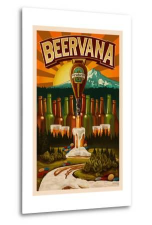 Beervana-Lantern Press-Metal Print