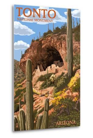 Tonto National Monument, Arizona-Lantern Press-Metal Print