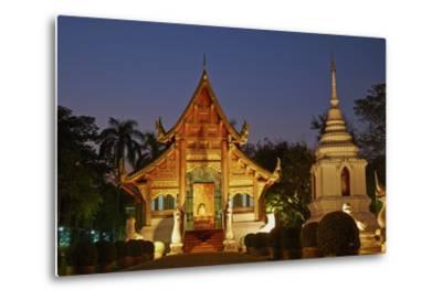 Wat Phra Singh, Chiang Mai, Thailand, Southeast Asia, Asia--Metal Print