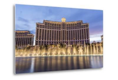 Bellagio at Dusk with Fountains, the Strip, Las Vegas, Nevada, Usa-Eleanor Scriven-Metal Print