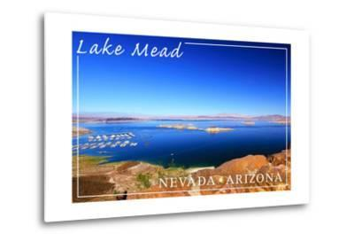 Lake Mead, Nevada - Arizona - Marina View-Lantern Press-Metal Print